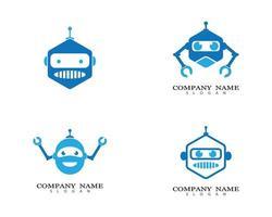 Robot logo images set vector