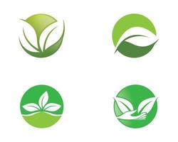 Ecology logo images vector