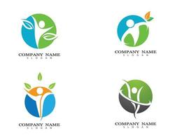 Healthy life logo design set