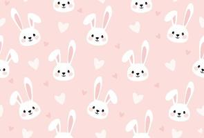 Bunny Cartoon Print for Kids Seamless Texture