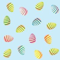 Pattern of decorated easter eggs