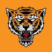 Simple Tiger Head Perfect for Mascot vector