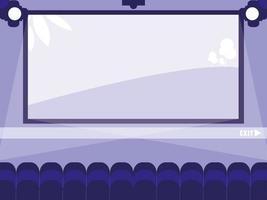 Cinema display scene vector