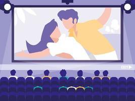 Cinema display scene design vector