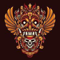 Bali Culture Barong Mask vector
