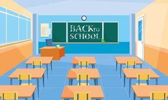 School classroom scene vector