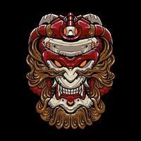 cabeza de mono cibernético vector