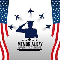 Memorial day celebration design vector