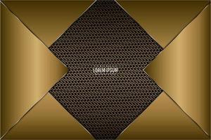 Gold metallic background vector
