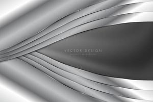 Luxury gray metallic background vector