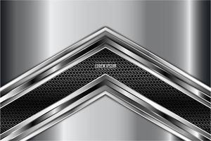 Arrow shape metallic background. vector