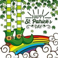 St. Patrick day banner with Elf boots vector