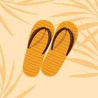 Summer orange flip flops design vector