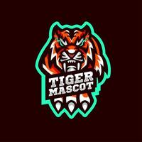 Tiger Mascot with Hand vector