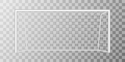 Football goal isolated on background vector