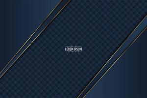 Blue with gold line metallic background. vector