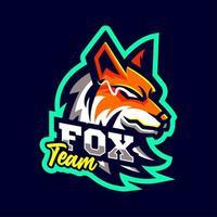 logotipo de la mascota del zorro estilo deportivo