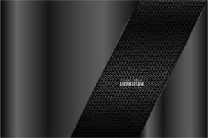 Dark gray technology background. vector