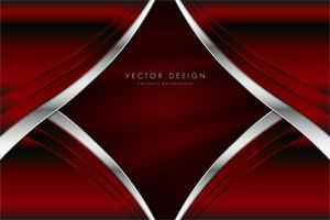 Red metallic background with silk texture. vector