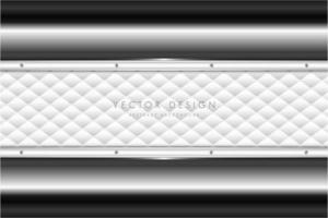 Elegante fondo de metal gris con tapizado blanco.