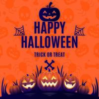 Happy Halloween Trick-or-Treat vector