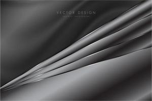 Dark gray metallic background with silk texture vector