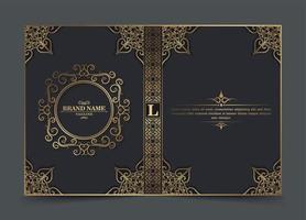 Ornamental retro book cover design vector