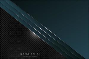 textura metálica verde oscuro con espacio negro vector