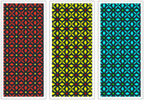 Colorful Tile Fabric Pattern Set vector