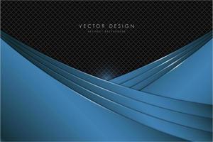 Blue metallic background with dark space vector