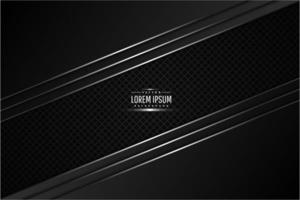 Black and silver metallic background with carbon fiber. vector