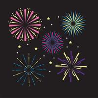 conjunto de ícones de fogos de artifício