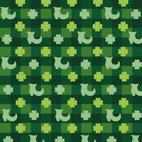Clover leaves and elf boots pattern background vector