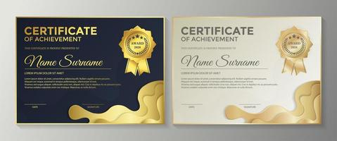 Achievement best award certificate vector
