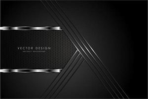 textura metálica negra con espacio oscuro vector