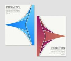 conjunto de diseño abstracto de cubiertas mínimas vector