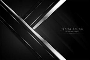 Black and gray arrow shape metallic background with silver. vector