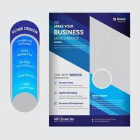 folleto de volante de conferencias corporativas y de negocios creativas vector
