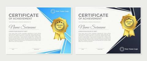 Membership award certificate set. vector
