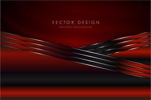 Red technological metallic background with silk. vector