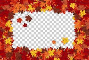 Maple leaf autumn frame background