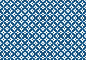 Blue Geometric Star Dot Pattern