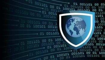 concepto de tecnología futura del circuito cibernético del mundo azul