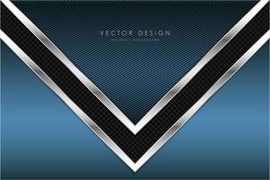 Blue technological metallic background with arrow shape. vector