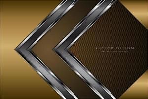 Fondo metálico dorado de lujo con espacio oscuro. vector