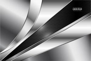 Fondo gris metalizado con textura. vector