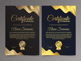 Premium gold and black certificate template design