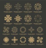 conjunto de logotipos de ornamento de luxo