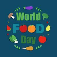 gráfico colorido del día mundial de la alimentación