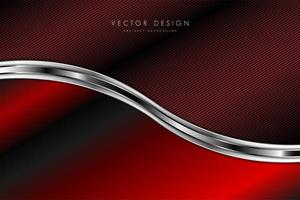 Red metallic background. Technology concept. vector